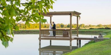 Pergola on the Pond at Moore Farms Rustic Weddings and Event Barns