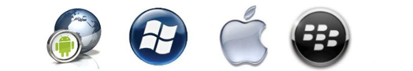 Microsoft Apple Blackberry icons