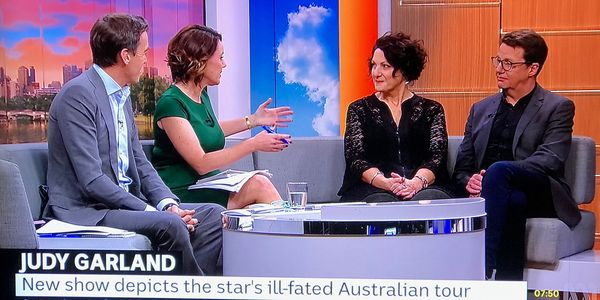 Bill Farr and Liane Keegan being interviewed on ABC TV.