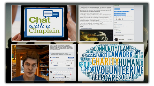 Rewards: chat with a Chaplain, written post, live-stream, charites.