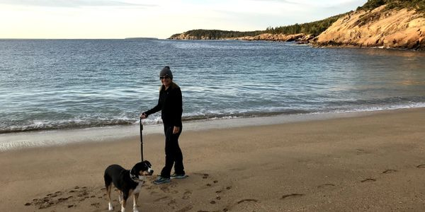 At Sand Beach in Acadia National Park, Maine