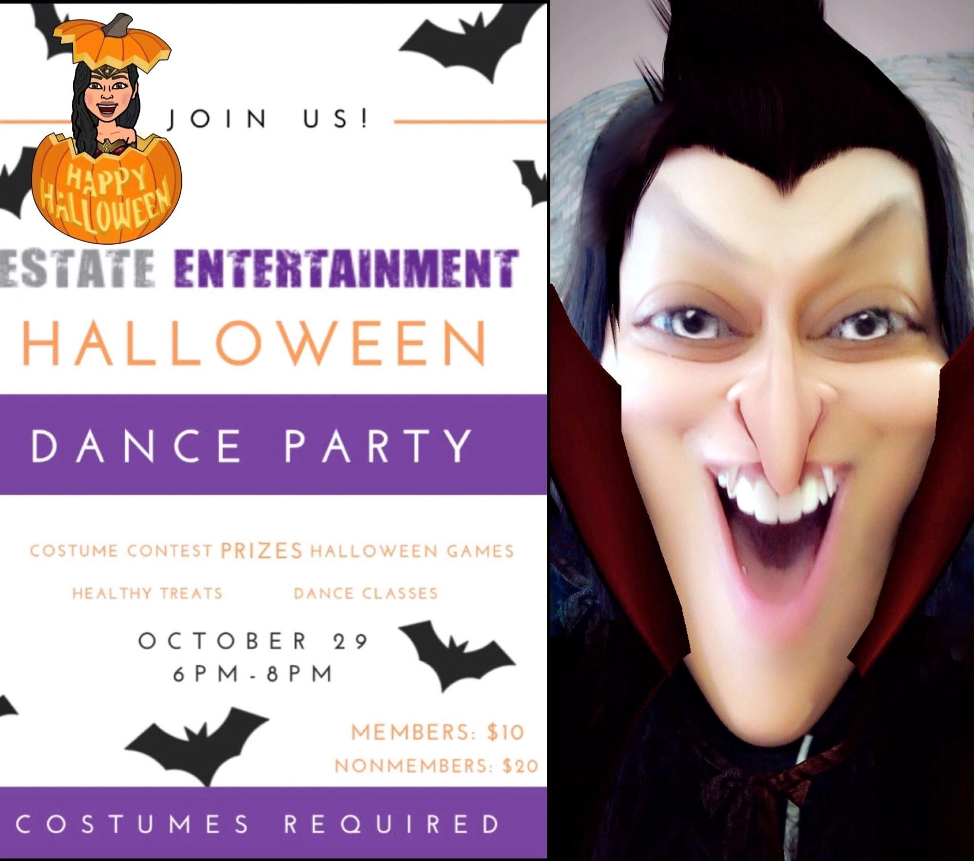 Estate Entertainment Halloween Party Invitation