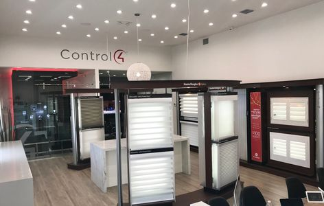 Control4, motorized shades, smart home, home automation, draperies, drapery workroom, Lutron