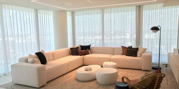 draperies, ripplefold, curtains, motorized shades, Lutron, Hunter Douglas, Somfy, Roller shades