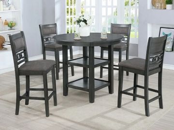 5 Piece Counter Height Round Dining Table Set