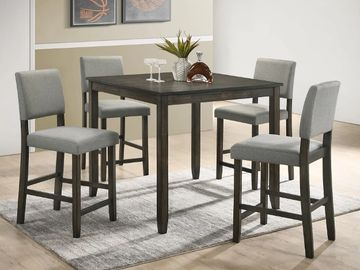 5 Piece Dinette Furniture Set Counter Height