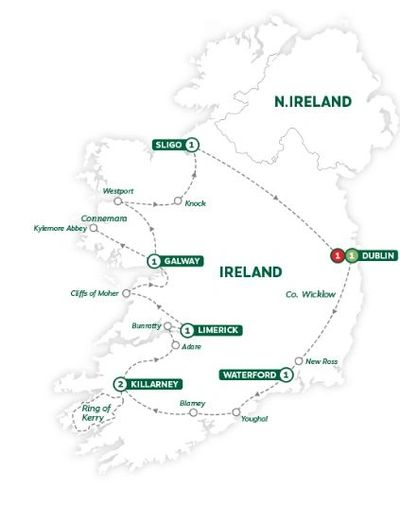 A ten-day amazing journey around Ireland!