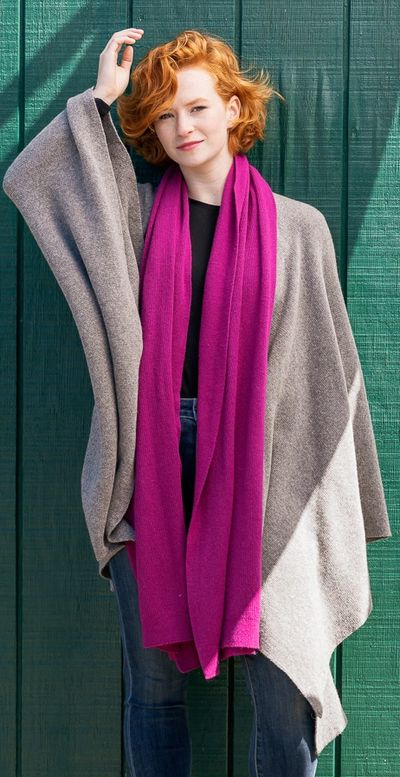 Cashmere and wool blend REBECCA WRAP with matching Como Scarf