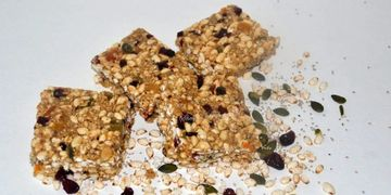 Healthy Seeded Cranberry & Apricot Bars