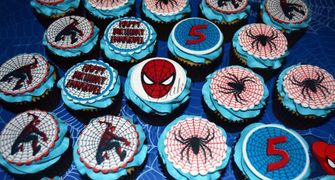 Spiderman Edible Image Prints Birthday Cupcake Cake Toppers
