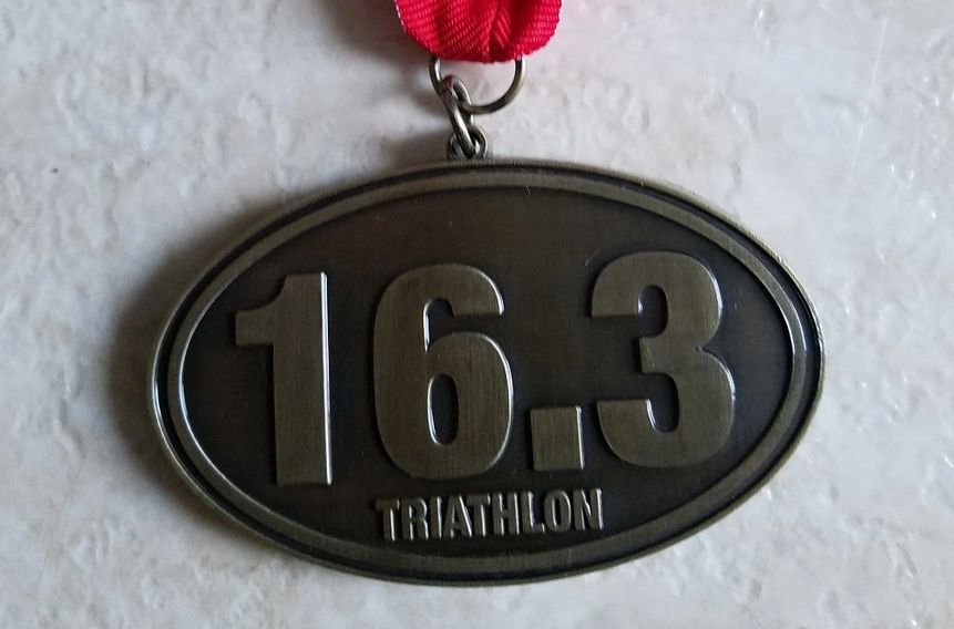 "Custom ""16.3 Triathlon"" Medal"