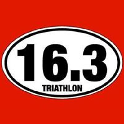 Founded as a Sprint Triathlon with .3 mile swim, 13 mile bike and 3 mile run the 16.3 logo was born.