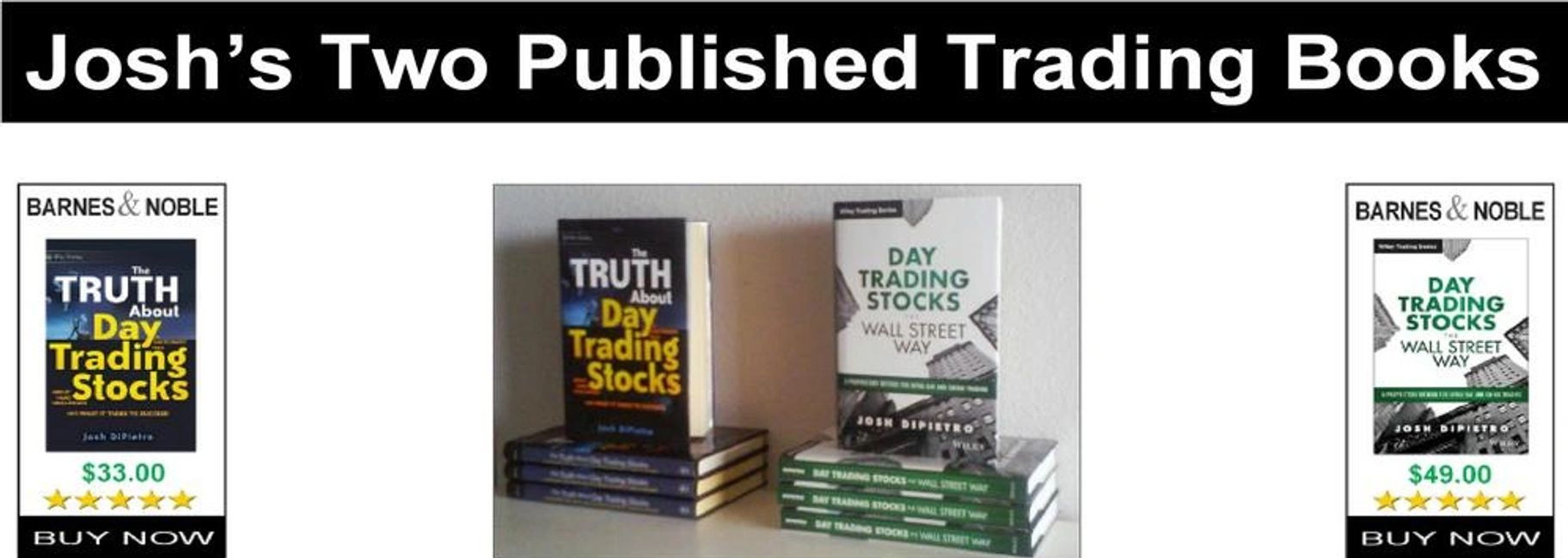day trader josh, josh dipietro, stock trading books, wiley trading