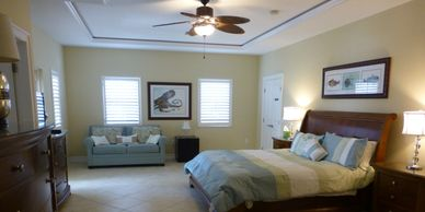The large master bedroom on the second floor - awesome!