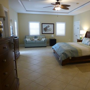 "The grand master bedroom suite - comfortable and awesome!  Walk-in closet and ""awesome bathroom"" ..."