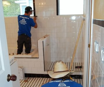 Hyde Park bathroom in progress Tampa, Florida. luxurious Master bath renovation.