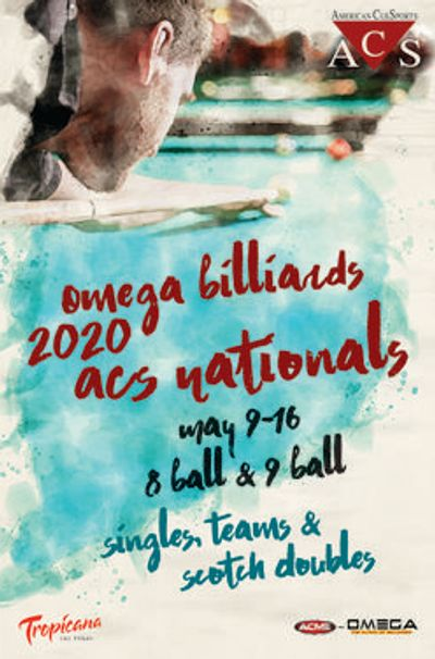 Omega Billiards 2020 ACS Nationals featuring singles, teams and scotch doubles.