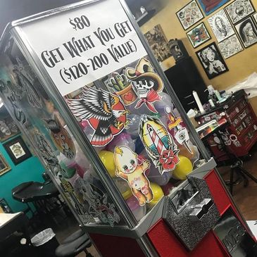 tattoo gumball machine inkbomb chandler az