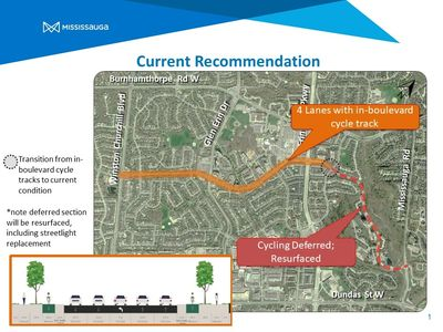 The City of Mississauga has initiated a study to plan for cycling facilities on The Collegeway betwe