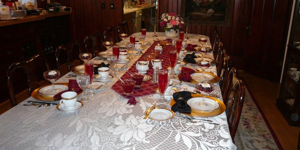 Table setting for B&B breakfast