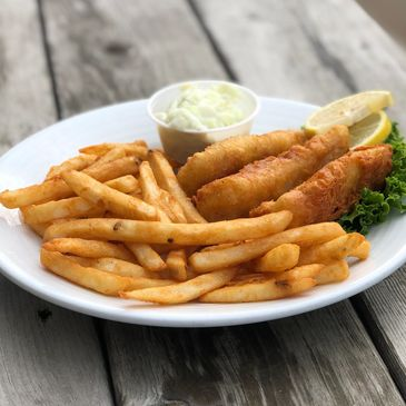plate of fish and fries for the Friday night fish fry at The Waters Pub