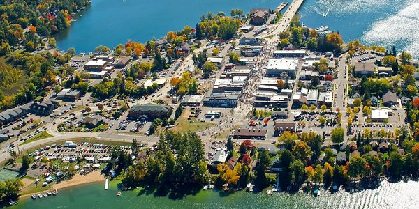 Aerial of downtown Minocqua