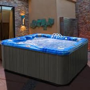 large hot tub filled with water,