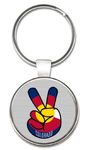 CO Peace Round Keyring
