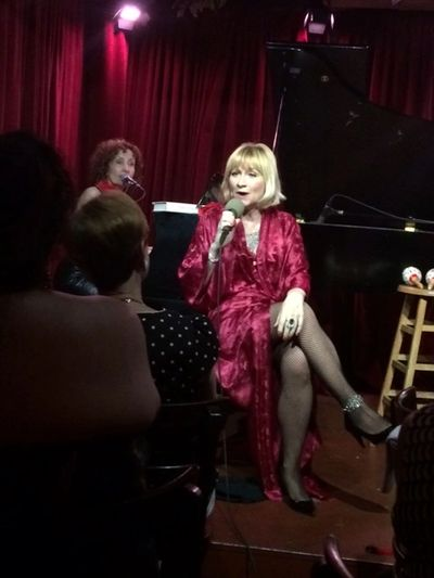 Lisa Faith Phillips sings in Savvy Secrets with Ellen Mandel on piano, Cornelia Street Cafe, NYC