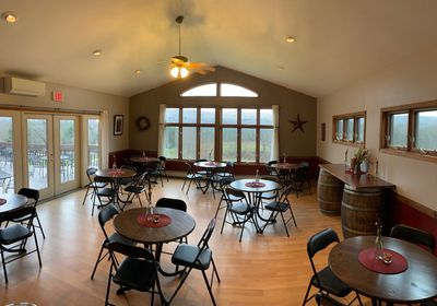Back room seating for large tastings and events