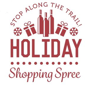 Holiday Shopping Spree wine trail event logo