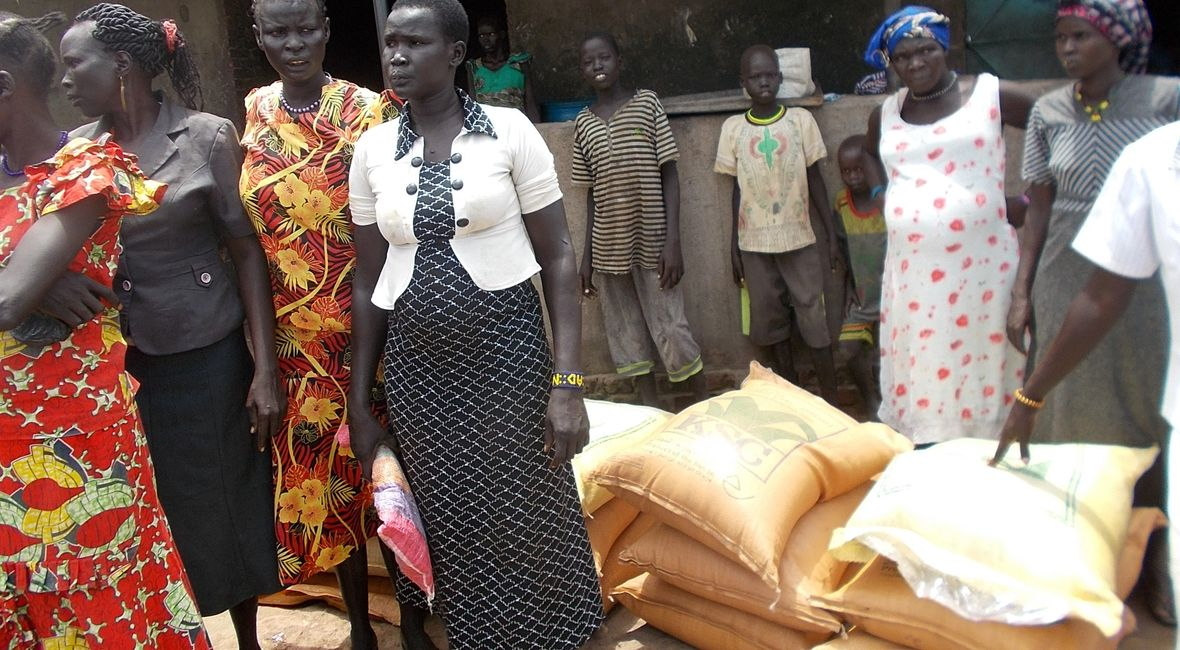 CEF handed over business start-up kits to group of 25 women in Tiar-aliet on 31 July 2019 in Aweil South