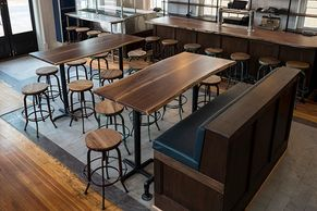 restaurant tables, walnut, bar tops