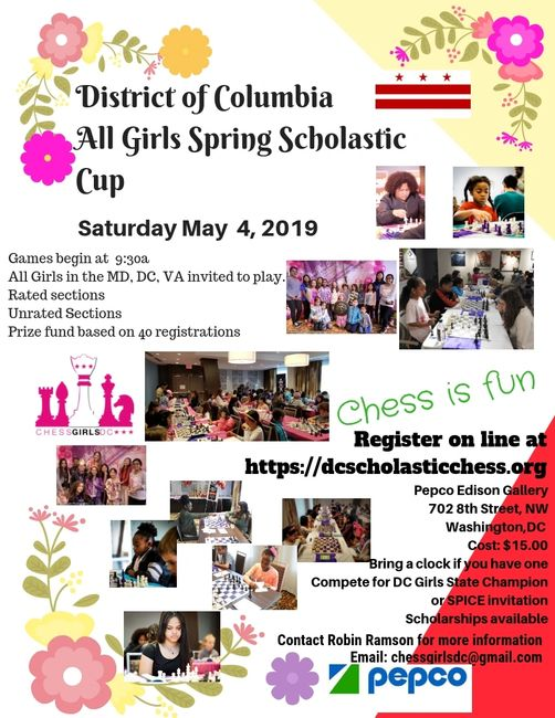 DC All Girls Spring Chess Tournament