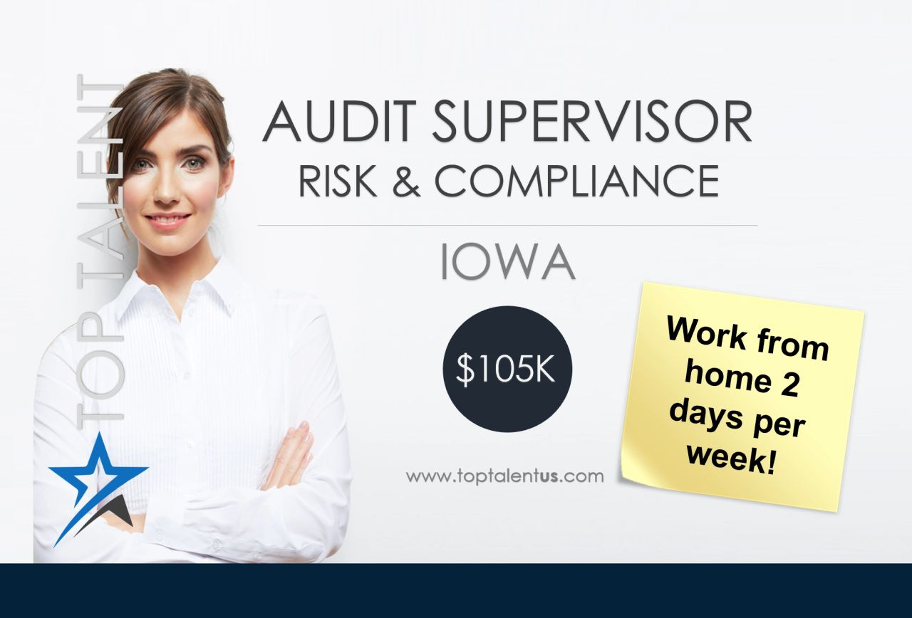 INTERNAL AUDIT SUPERVISOR - RISK & COMPLIANCE