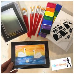 All inclusive to facilitate  an art session for a party, art activity, classroom, souvenir etc.