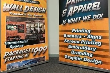 Full color standing banners for trade shows and events