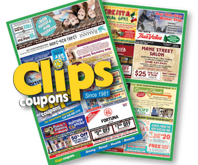 The full color Clips Coupons Insert for company advertising