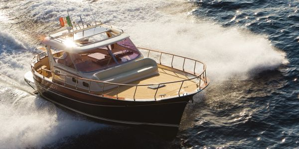 Fratelli Aprea USA Sorrentino 36 Hard Top teak deck wood and fiberglass italian yachts and boat