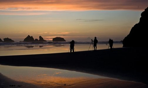 bandon, oregon, sunset, sea stacks, photography workshop, photography class, photography tour