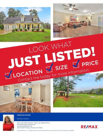 JUST LISTED! Beautiful home in Effingham County for $210,000! 383 Archer Road in Guyton