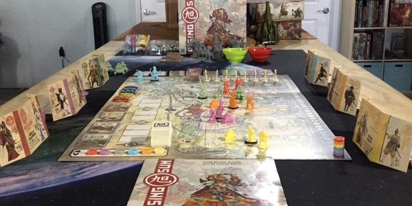 Come in and play board games like Rising Sun!