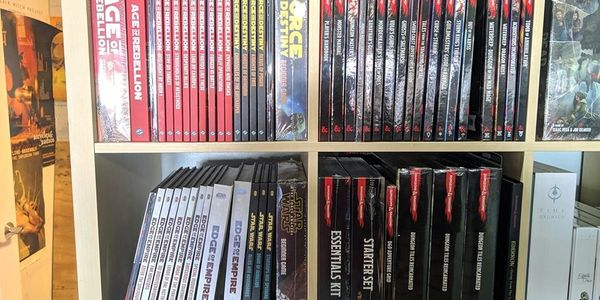 Stock up on your favorite RPG books in D&D or Star Wars and more!