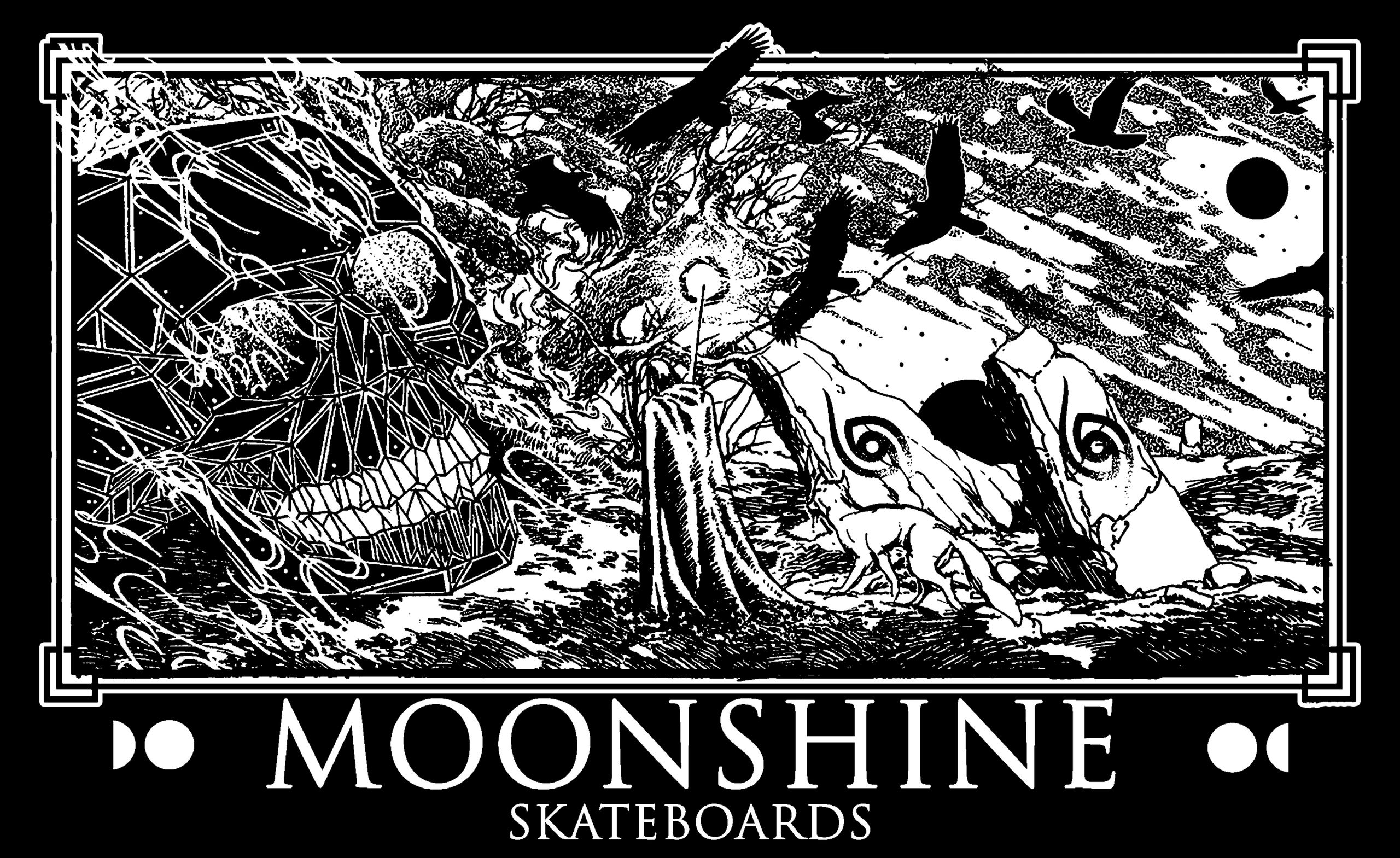 Moonshine skateboards home freestyle skateboards old school shape skateboards zorlac
