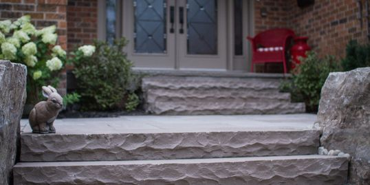 slate grey steps, natural stone steps, pavers , natural stone, patio, garden center