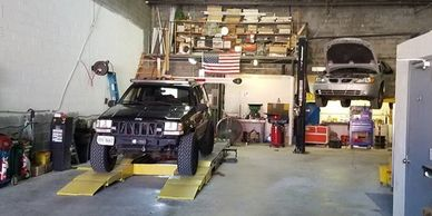 Wheel alignment service and AC repair are popular services at our Springfield VA shop