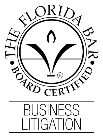Florida Bar Board Certified Business Litigation logo.Click the image for more informaiton on BCS.