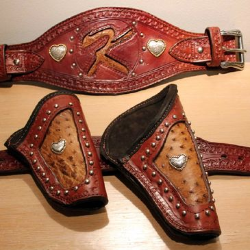 Cowboy Mounted Shooting - Custom Made Holsters Chaps & Chinks