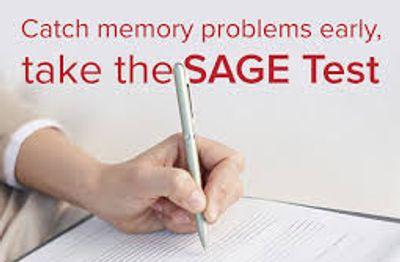 SAGE Test memory problems worried. Self-Administered Gerocognitive Examp detect early signs dementia