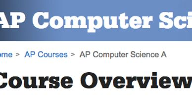 Link to College Board web page for AP Computer Science A